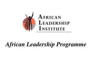 African Leadership Programme
