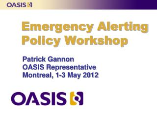 Emergency Alerting Policy Workshop