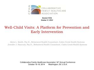 Well-Child Visits: A Platform for Prevention and Early Intervention