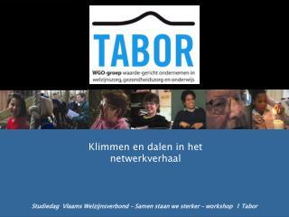 Studiedag  Vlaams Welzijnsverbond – Samen staan we sterker – workshop  1 Tabor