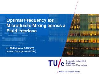 Optimal Frequency for  Microfluidic  Mixing across a Fluid Interface