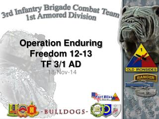 Operation Enduring Freedom 12-13  TF 3/1 AD