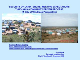 Decision Makers Meeting:  Good Administration of Lands