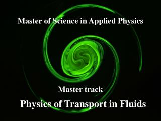 Master of Science in Applied Physics
