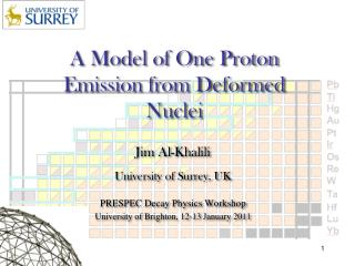 A Model of One Proton Emission from Deformed Nuclei