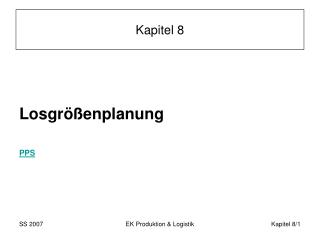 Kapitel 8
