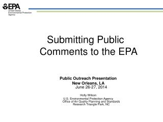 Submitting Public Comments to the EPA