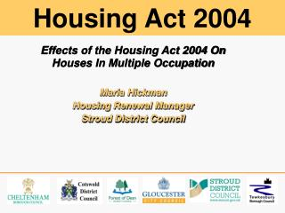 Effects of the Housing Act 2004 On Houses In Multiple Occupation Maria Hickman