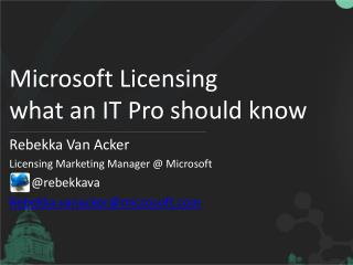 Microsoft Licensing what an IT Pro should know