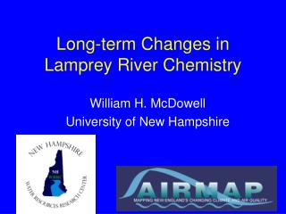 Long-term Changes in Lamprey River Chemistry