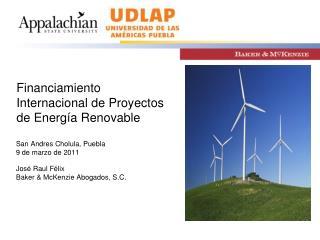Financiamiento Internacional de Proyectos de Energ�a Renovable
