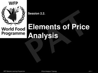 Session 2.2. Elements of Price Analysis