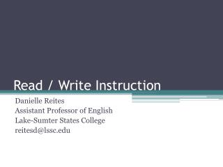 Read / Write Instruction