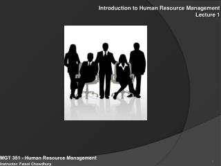 Introduction to Human Resource Management Lecture 1
