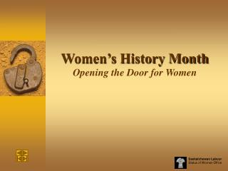 Women's History Month Opening the Door for Women