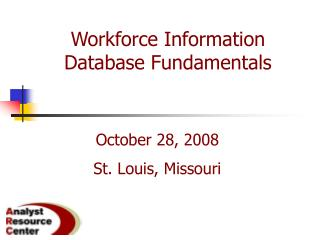 Workforce Information Database Fundamentals