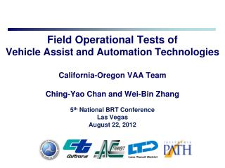 FTA and RITA JPO Vehicle Assist and Automation Demonstration Program
