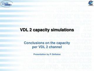 VDL 2 capacity simulations