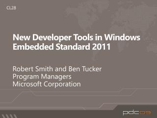 New Developer Tools in Windows Embedded Standard 2011