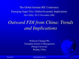 Outward FDI from China: Trends and Implications