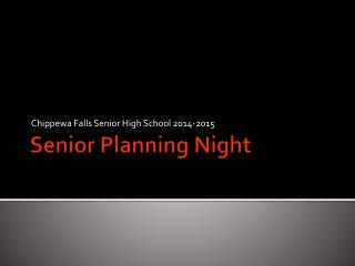 Senior Planning Night