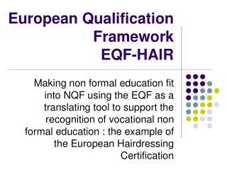 European Qualification Framework  EQF-HAIR