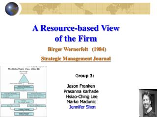 A Resource-based View  of the Firm  Birger Wernerfelt   (1984) Strategic Management Journal