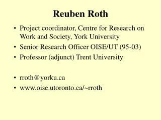 Reuben Roth
