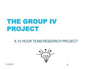 THE GROUP IV PROJECT