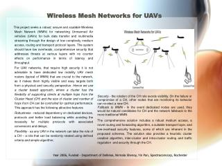 Wireless Mesh Networks for UAVs