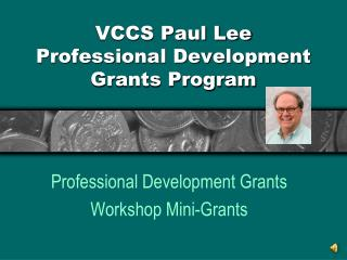 VCCS Paul Lee Professional Development Grants Program