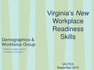 Demographics & Workforce Group