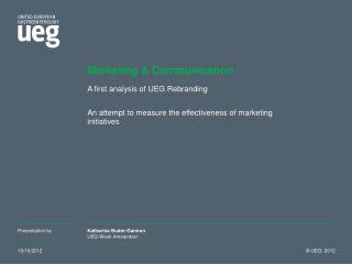 Marketing & Communication