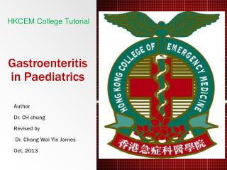 Gastroenteritis in Paediatrics