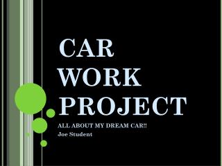 CAR WORK PROJECT