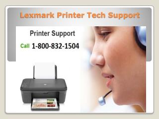 Lexmark Printer Tech Support 1-800-832-1504 |Toll Free