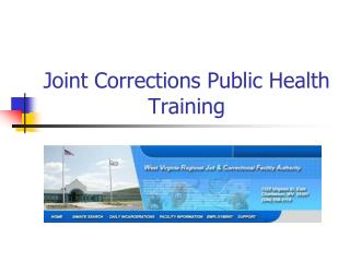 Joint Corrections Public Health Training