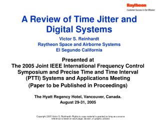 A Review of Time Jitter and Digital Systems