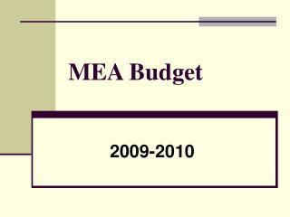 MEA Budget