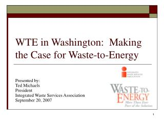 WTE in Washington:  Making the Case for Waste-to-Energy