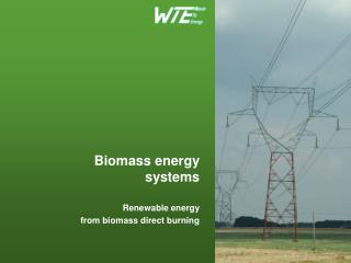 Biomass energy systems