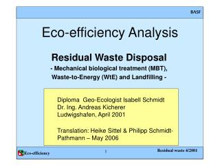 Eco-efficiency Analysis