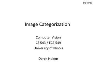 Image Categorization