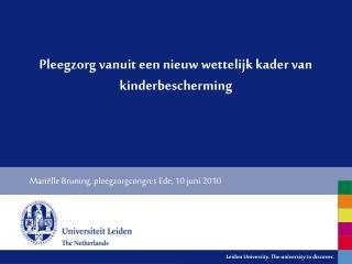 Pleegzorg vanuit een nieuw wettelijk kader van kinderbescherming