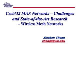 Xiuzhen Cheng cheng@gwu