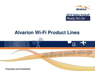 Alvarion Wi-Fi Product Lines