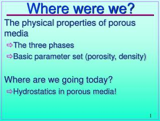 Where were we?