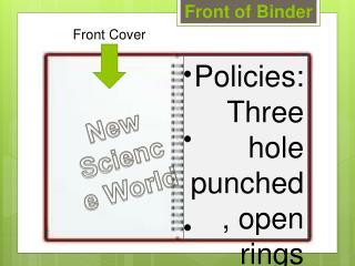 Front of Binder