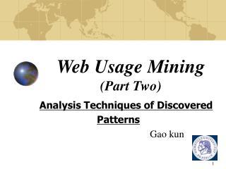 Web Usage Mining (Part Two)