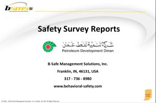 Safety Survey Reports
